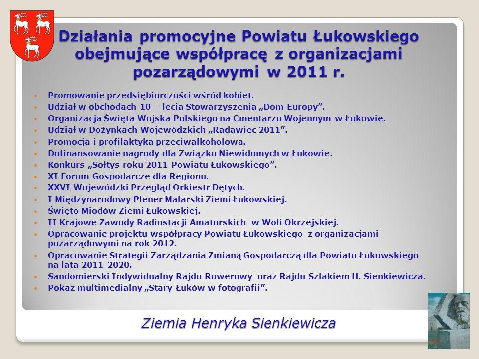 Działania promocyjne Powiatu Łukowskiego obejmujące współpracę z organizacjami pozarządowymi w 2011 r. Promowanie przedsiębiorczości wśród kobiet. Udz