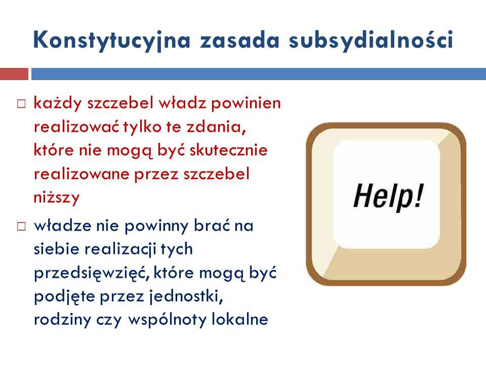 Zasada subsydiarności – c.d.
