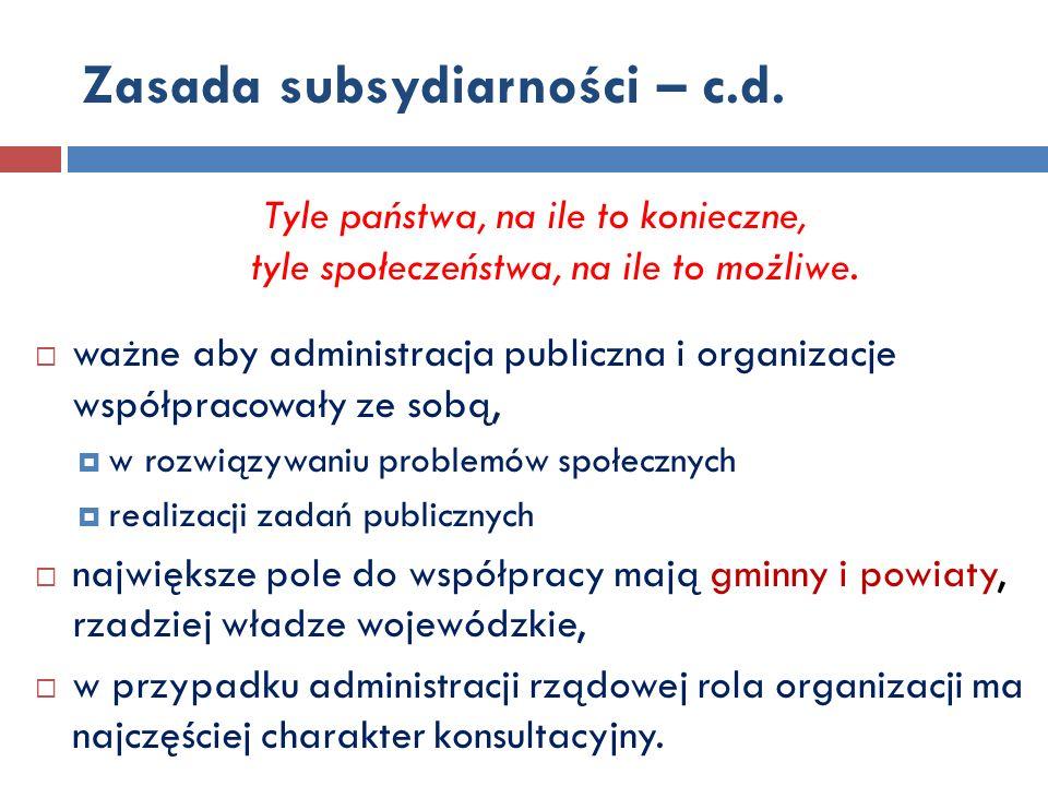 Formy współpracy - MINISTERSTWO art.5 ust 2 współpraca odbywa się w szczególności poprzez: 1.