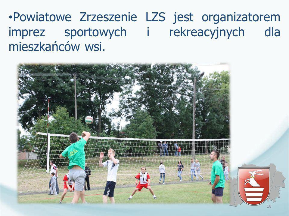 Powiatowe Zrzeszenie LZS jest organizatorem imprez sportowych i rekreacyjnych dla mieszkańców wsi. 18
