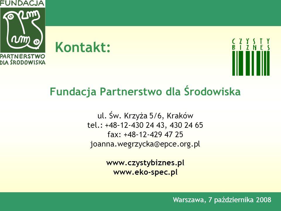 Fundacja Partnerstwo dla Środowiska ul. Św.