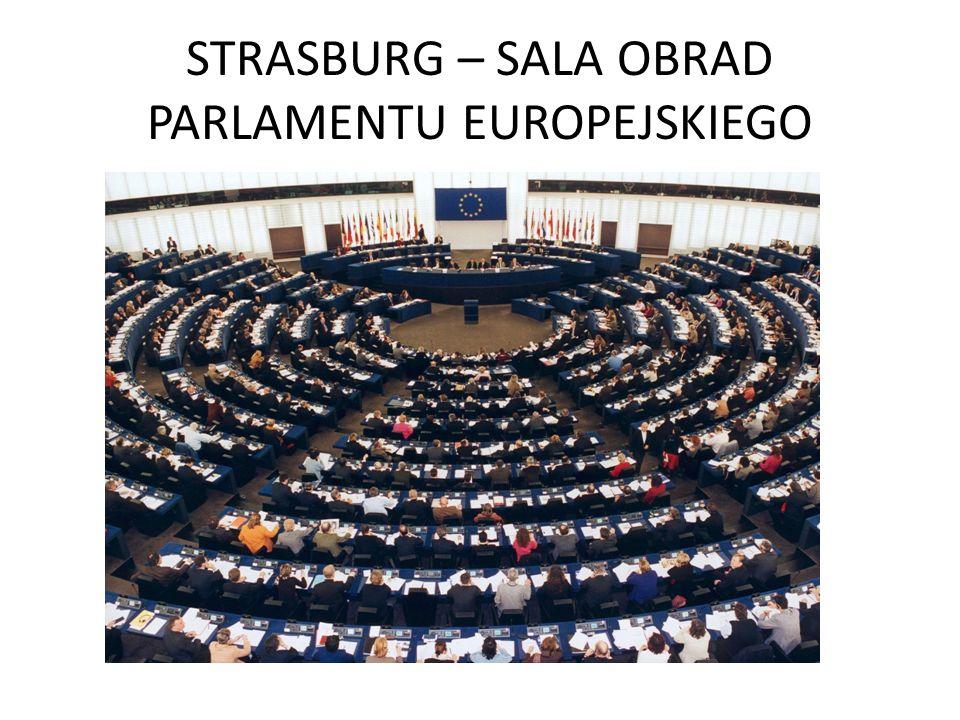 STRASBURG – SALA OBRAD PARLAMENTU EUROPEJSKIEGO