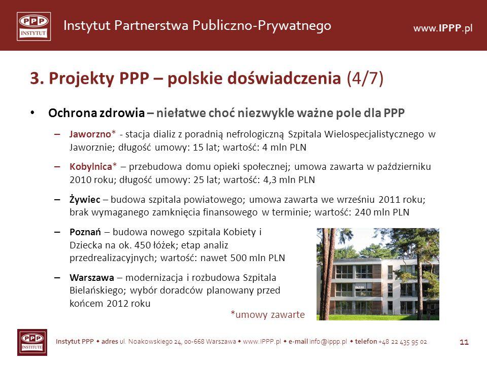 Instytut PPP adres ul. Noakowskiego 24, 00-668 Warszawa www.IPPP.pl e-mail info@ippp.pl telefon +48 22 435 95 02 11 Instytut Partnerstwa Publiczno-Pry