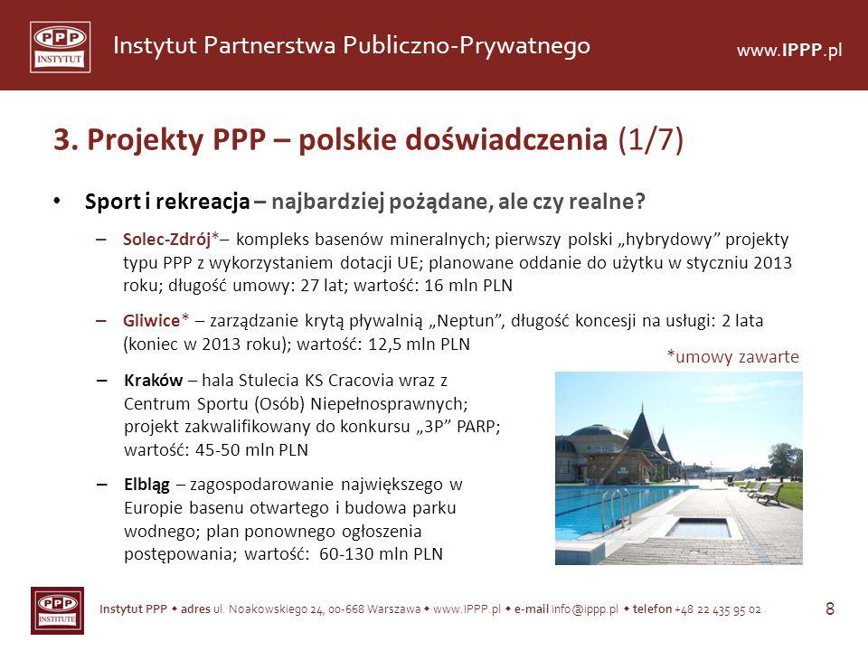 Instytut PPP adres ul. Noakowskiego 24, 00-668 Warszawa www.IPPP.pl e-mail info@ippp.pl telefon +48 22 435 95 02 8 Instytut Partnerstwa Publiczno-Pryw