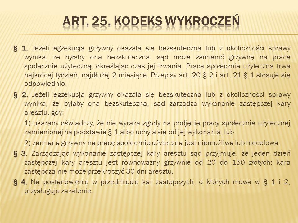 Art.45. Kodeks karny wykonawczy § 1. § 1.