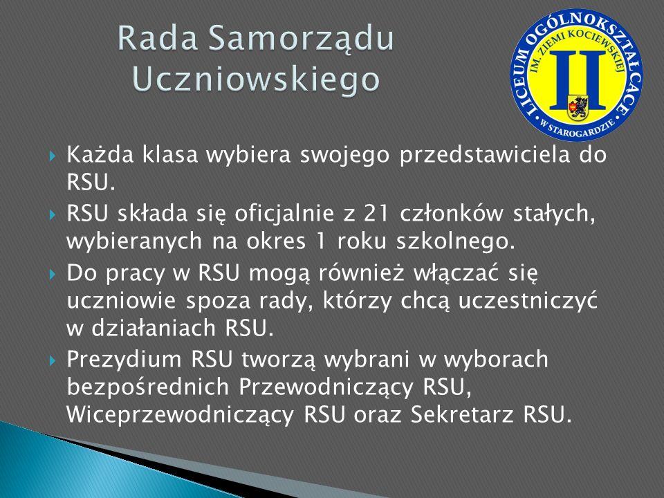 Każda klasa wybiera swojego przedstawiciela do RSU. RSU składa się oficjalnie z 21 członków stałych, wybieranych na okres 1 roku szkolnego. Do pracy w