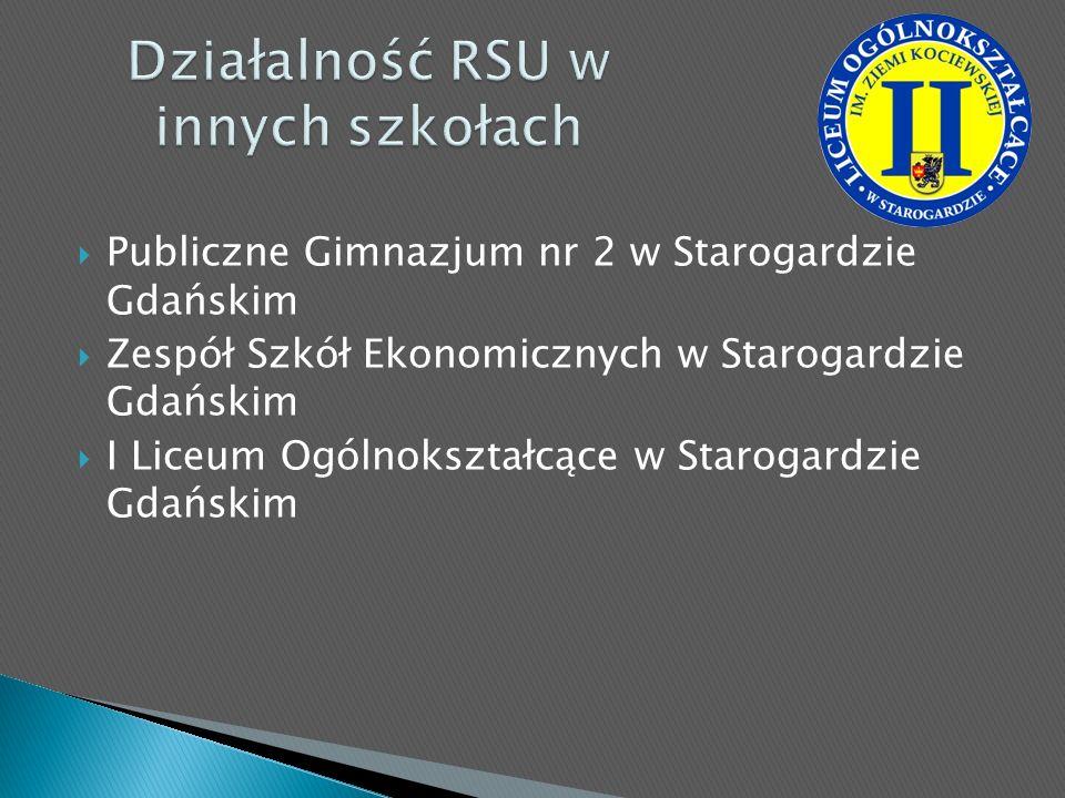 Publiczne Gimnazjum nr 2 w Starogardzie Gdańskim Zespół Szkół Ekonomicznych w Starogardzie Gdańskim I Liceum Ogólnokształcące w Starogardzie Gdańskim