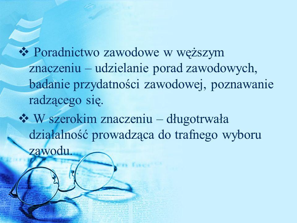 Modele doradcy zawodu wg.B. Wojtasik 1.