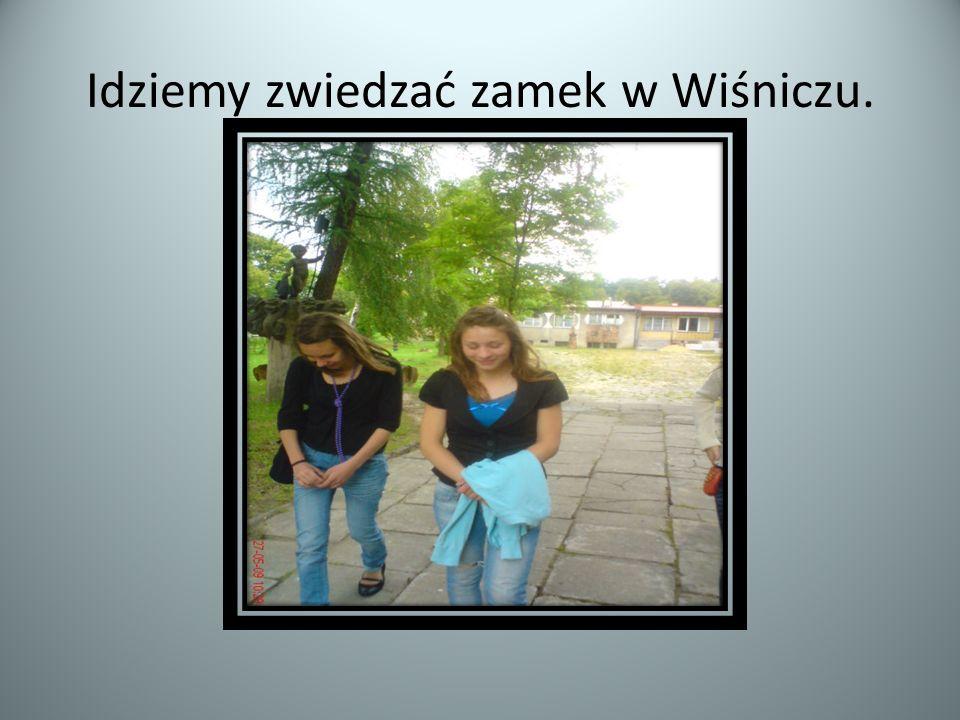 Idziemy zwiedzać zamek w Wiśniczu.