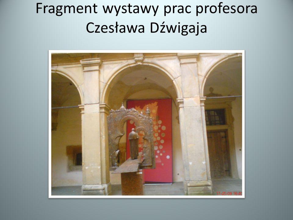 Fragment wystawy prac profesora Czesława Dźwigaja