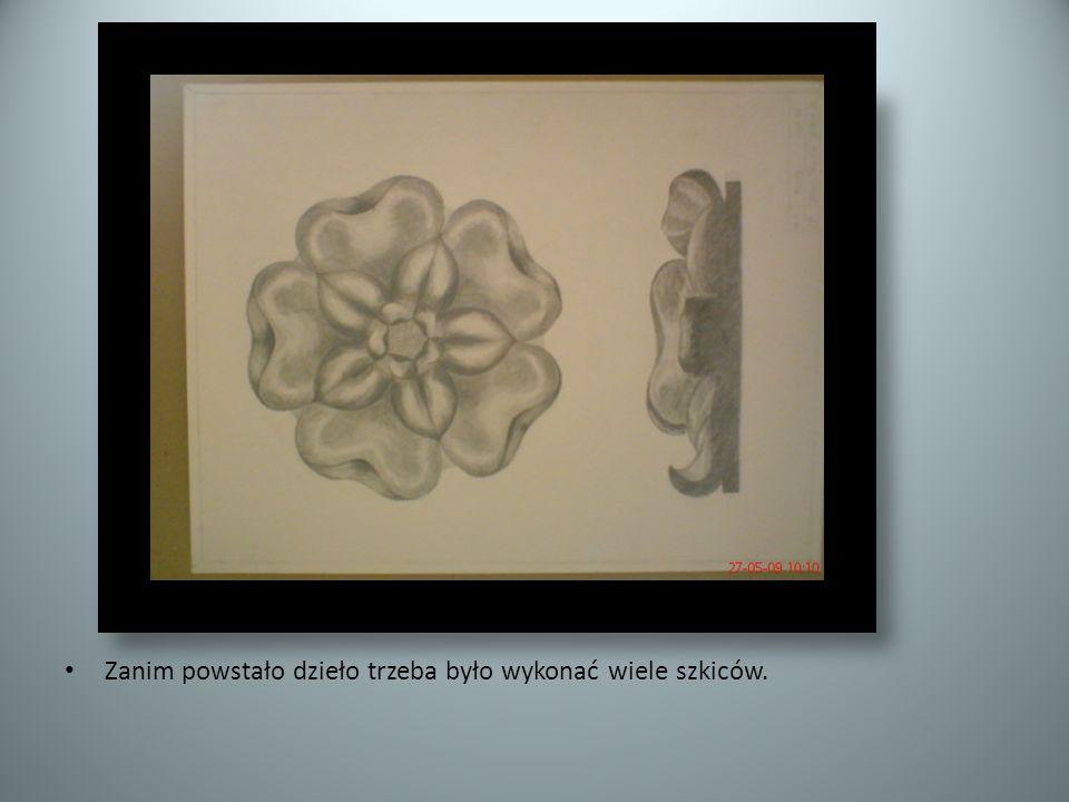 Zanim powstało dzieło trzeba było wykonać wiele szkiców.