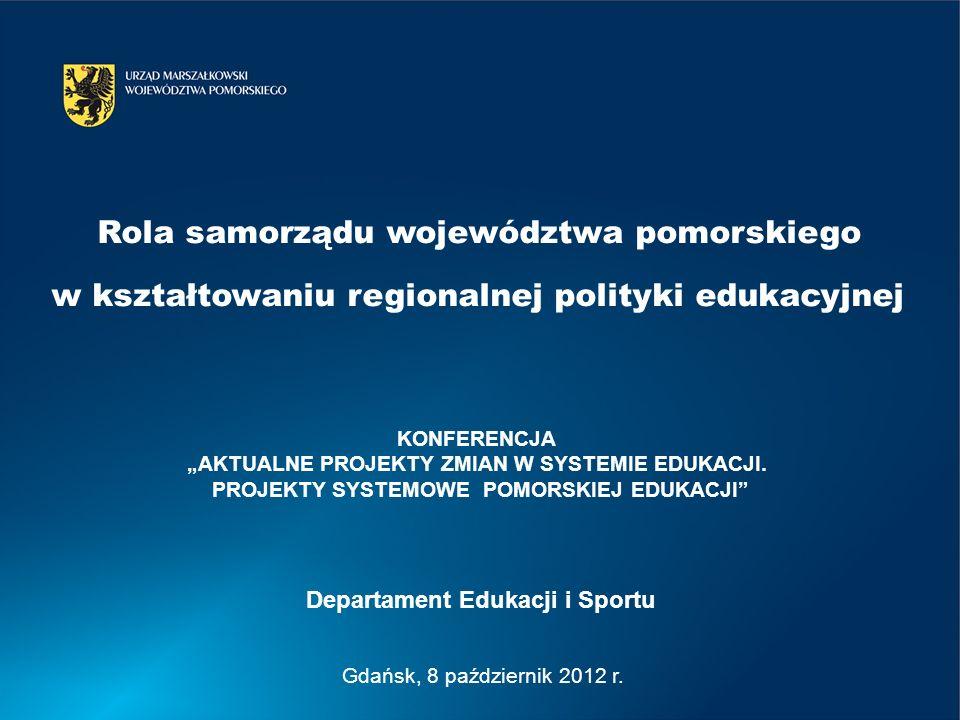 Gdańsk, 8 październik 2012 r. KONFERENCJA AKTUALNE PROJEKTY ZMIAN W SYSTEMIE EDUKACJI.