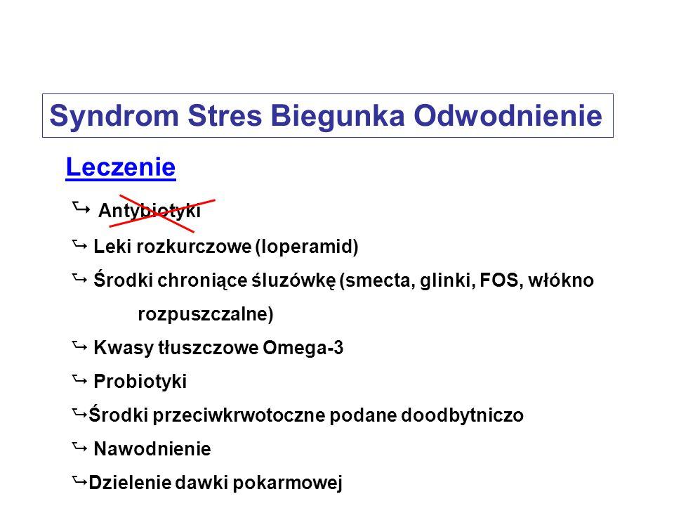 Leczenie Antybiotyki Leki rozkurczowe (loperamid) Środki chroniące śluzówkę (smecta, glinki, FOS, włókno rozpuszczalne) Kwasy tłuszczowe Omega-3 Probi