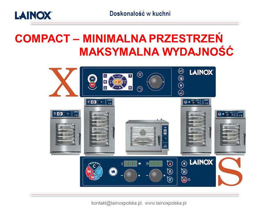 Piece LAINOX mogą być bezpośrednio podłączone do zasilania wodnego bez konieczności stosowania drogich w zakupie i wymagających cyklicznej obsługi zmiękczaczy wody.