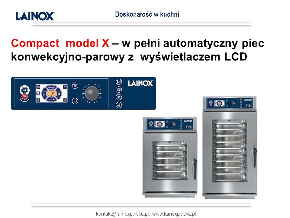 kontakt@lainoxpolska.pl, www.lainoxpolska.pl Doskonałość w kuchni wyjątkowo skuteczna metoda odczytu temperatury wewnątrz potraw za pomocą wielopunktowych sond na 4 półkach jednocześnie MULTISONDA Opatentowane przez Lainox