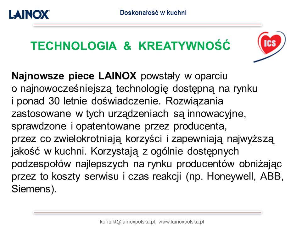 Najnowsze piece LAINOX powstały w oparciu o najnowocześniejszą technologię dostępną na rynku i ponad 30 letnie doświadczenie. Rozwiązania zastosowane