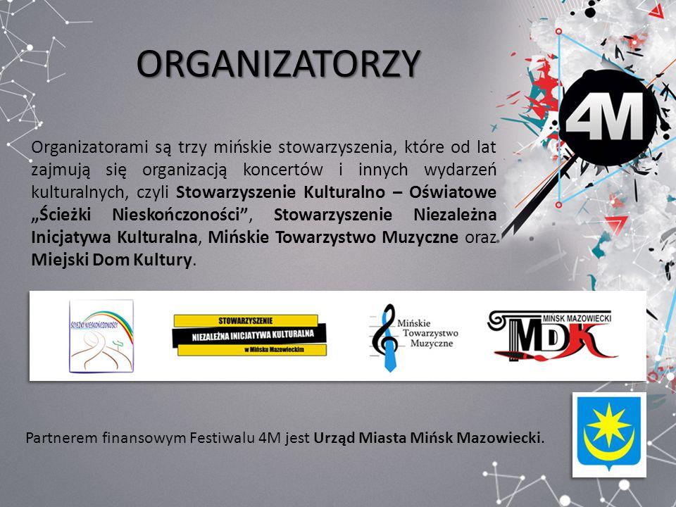 ORGANIZATORZY Organizatorami są trzy mińskie stowarzyszenia, które od lat zajmują się organizacją koncertów i innych wydarzeń kulturalnych, czyli Stow
