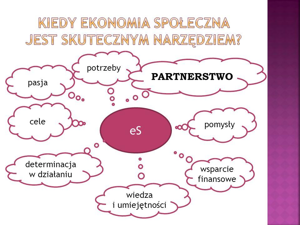pasja cele potrzeby pomysły wsparcie finansowe wiedza i umiejętności eS determinacja w działaniu PARTNERSTWO