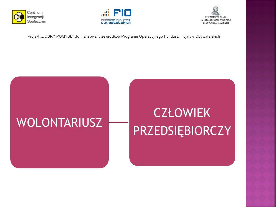 Projekt DOBRY POMYSŁ dofinansowany ze środków Programu Operacyjnego Fundusz Inicjatyw Obywatelskich WOLONTARIUSZ CZŁOWIEK PRZEDSIĘBIORCZY