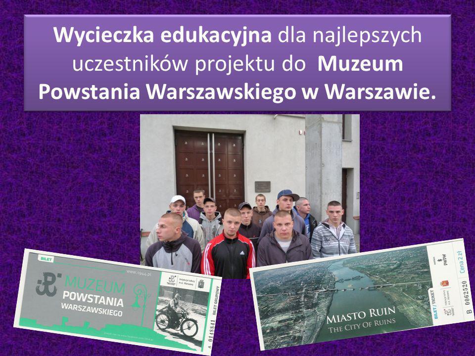 Wycieczka edukacyjna dla najlepszych uczestników projektu do Muzeum Powstania Warszawskiego w Warszawie.