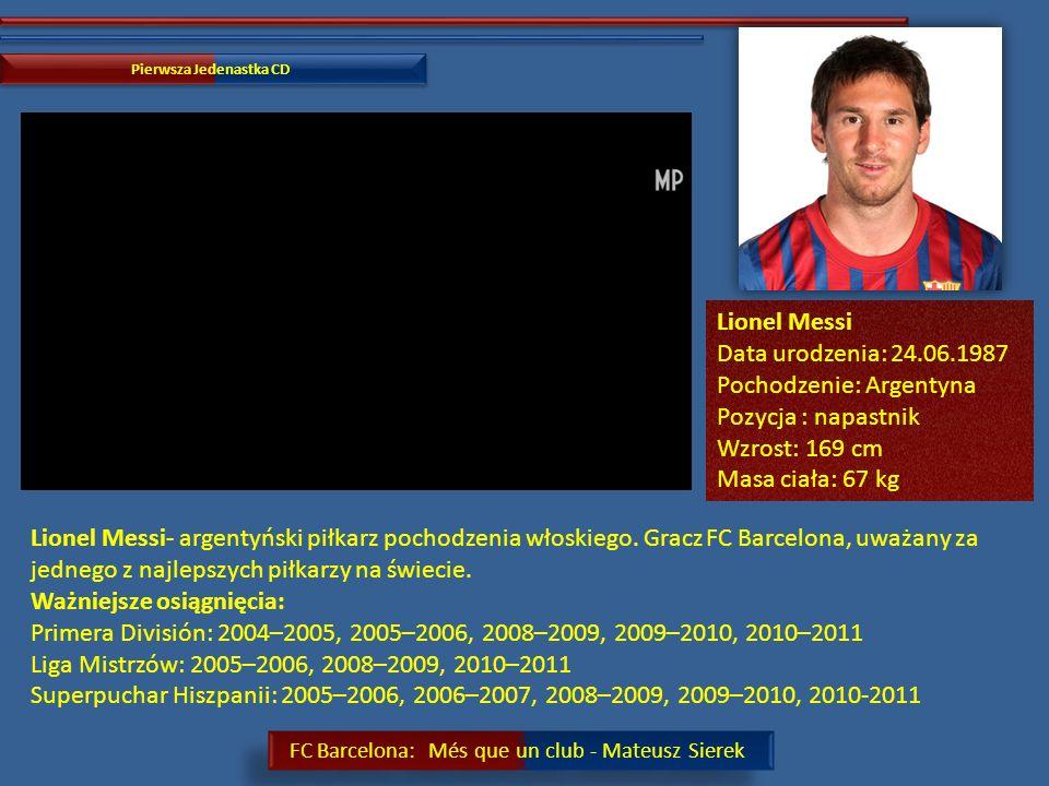 FC Barcelona: Més que un club - Mateusz Sierek Pierwsza Jedenastka CD Alexis Sánchez- chilijski piłkarz występujący na pozycji pomocnika lub napastnika.