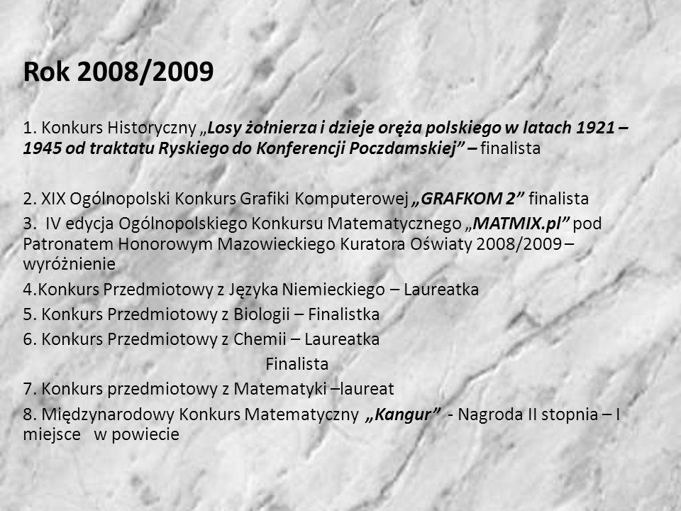 Rok 2008/2009 1.