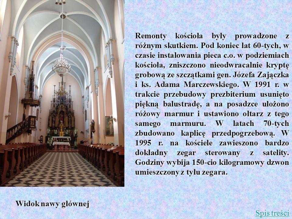 Remonty kościoła były prowadzone z różnym skutkiem. Pod koniec lat 60-tych, w czasie instalowania pieca c.o. w podziemiach kościoła, zniszczono nieodw