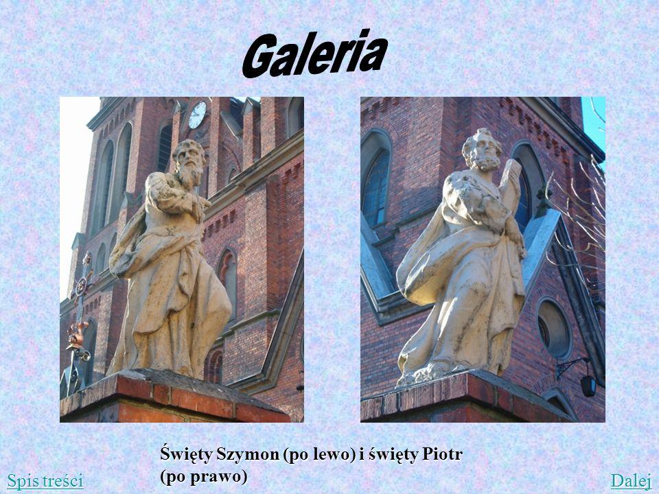 Święty Szymon (po lewo) i święty Piotr (po prawo) Spis treści Spis treści Dalej