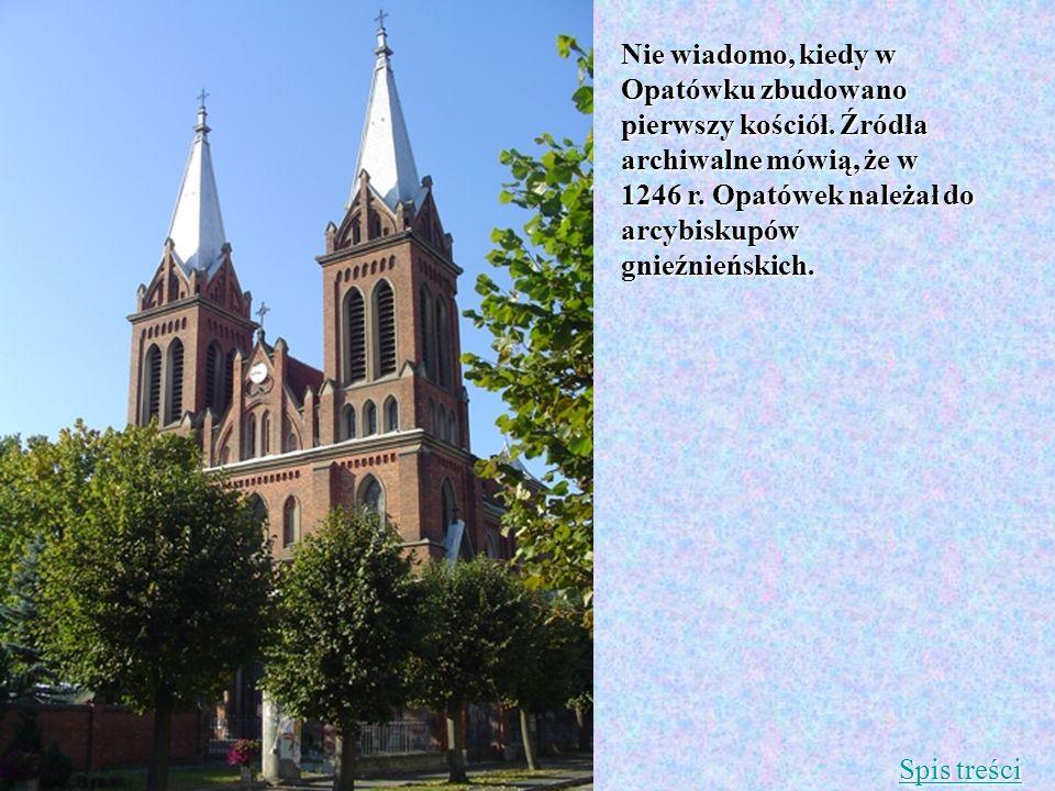 Nie wiadomo, kiedy w Opatówku zbudowano pierwszy kościół. Źródła archiwalne mówią, że w 1246 r. Opatówek należał do arcybiskupów gnieźnieńskich. Spis