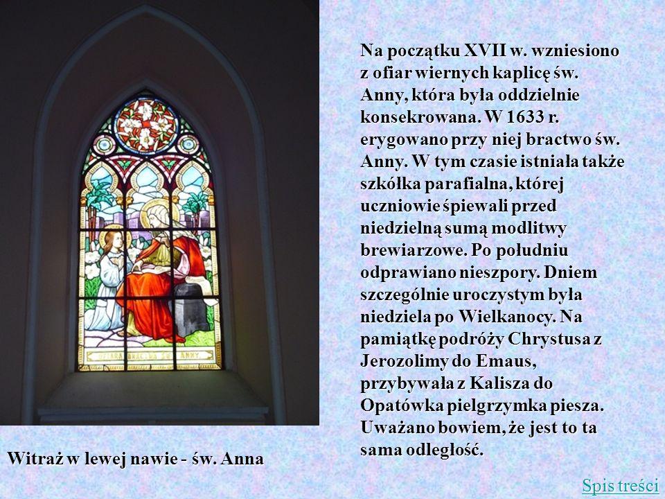 Na początku XVII w. wzniesiono z ofiar wiernych kaplicę św. Anny, która była oddzielnie konsekrowana. W 1633 r. erygowano przy niej bractwo św. Anny.