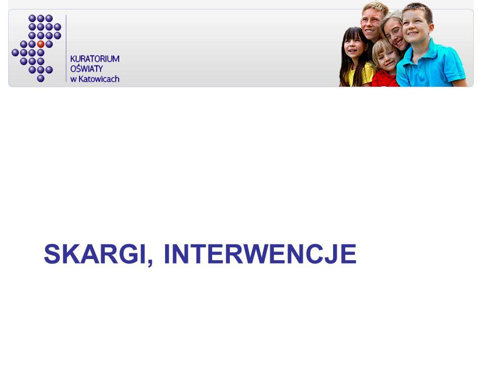 SKARGI, INTERWENCJE