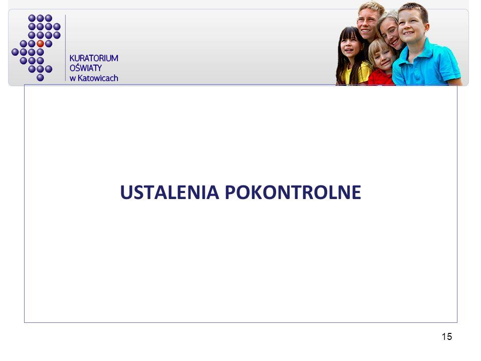 USTALENIA POKONTROLNE 15