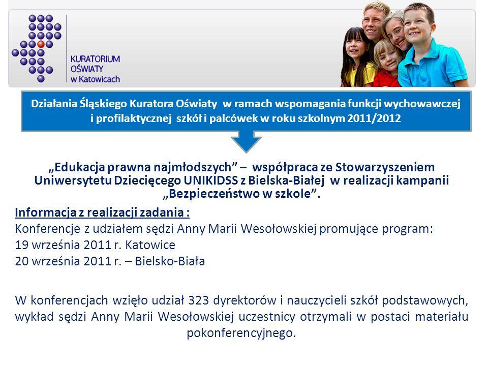 Edukacja prawna najmłodszych – współpraca ze Stowarzyszeniem Uniwersytetu Dziecięcego UNIKIDSS z Bielska-Białej w realizacji kampanii Bezpieczeństwo w