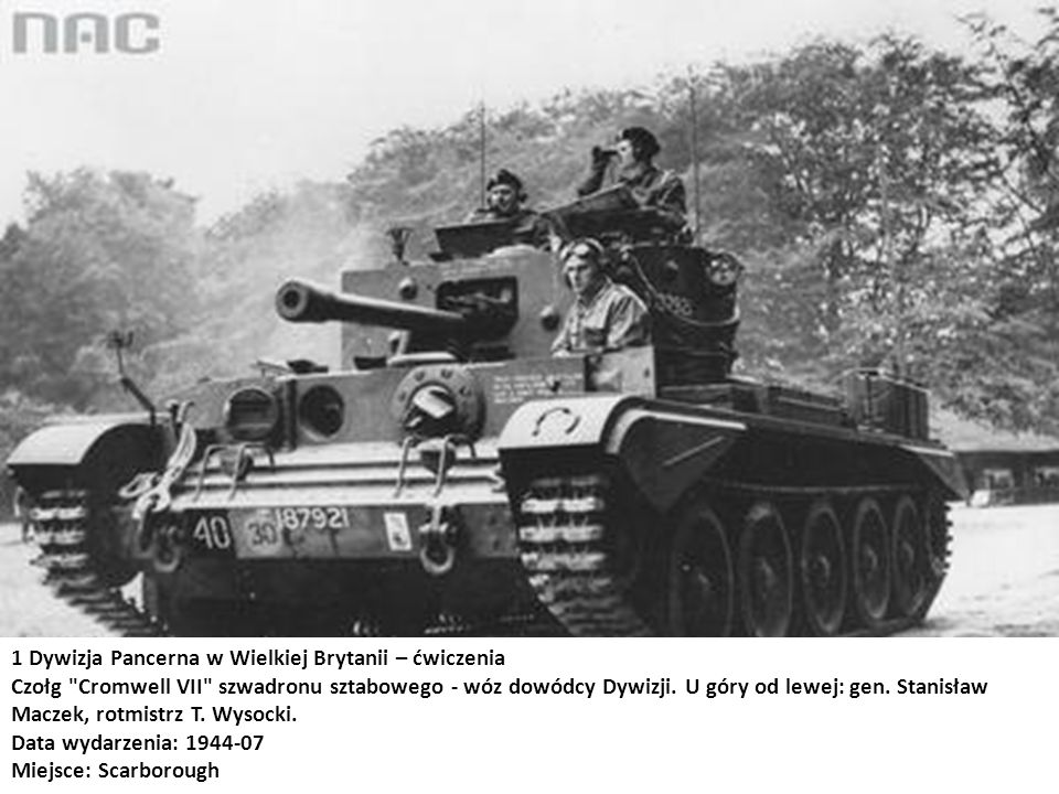 1 Dywizja Pancerna w Wielkiej Brytanii – ćwiczenia Czołg