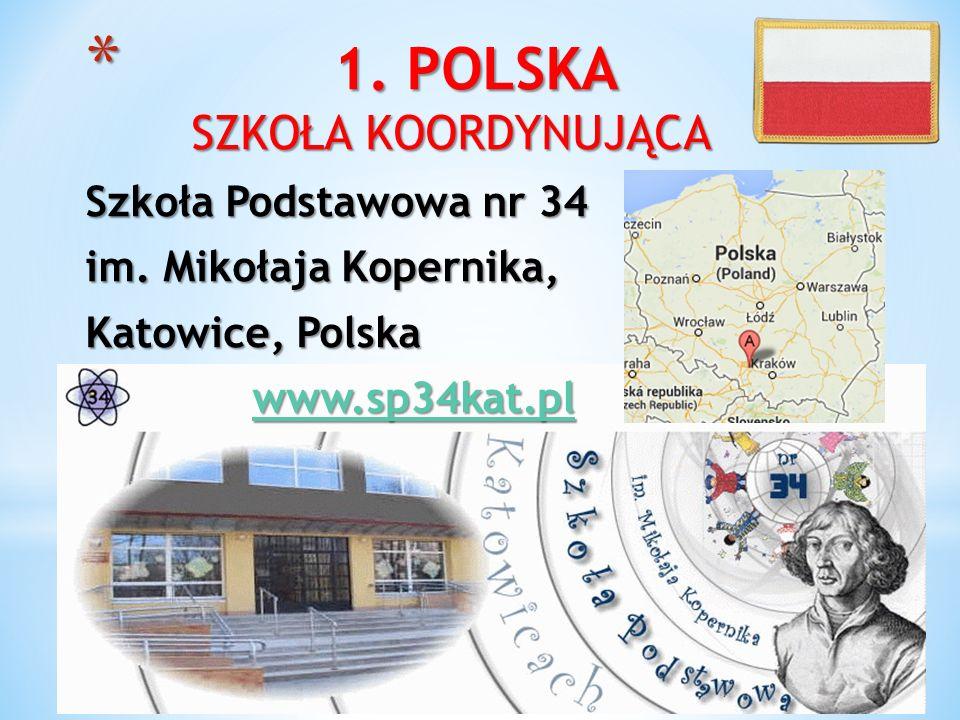 * 1. POLSKA SZKOŁA KOORDYNUJĄCA Szkoła Podstawowa nr 34 im. Mikołaja Kopernika, Katowice, Polska www.sp34kat.pl www.sp34kat.plwww.sp34kat.pl