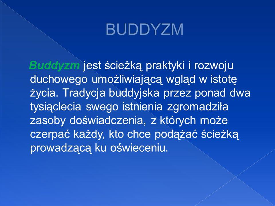 Buddyzm jest ścieżką praktyki i rozwoju duchowego umożliwiającą wgląd w istotę życia. Tradycja buddyjska przez ponad dwa tysiąclecia swego istnienia z