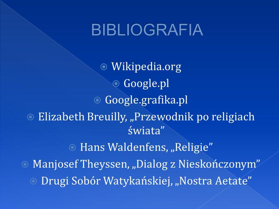 Wikipedia.org Google.pl Google.grafika.pl Elizabeth Breuilly, Przewodnik po religiach świata Hans Waldenfens, Religie Manjosef Theyssen, Dialog z Nies