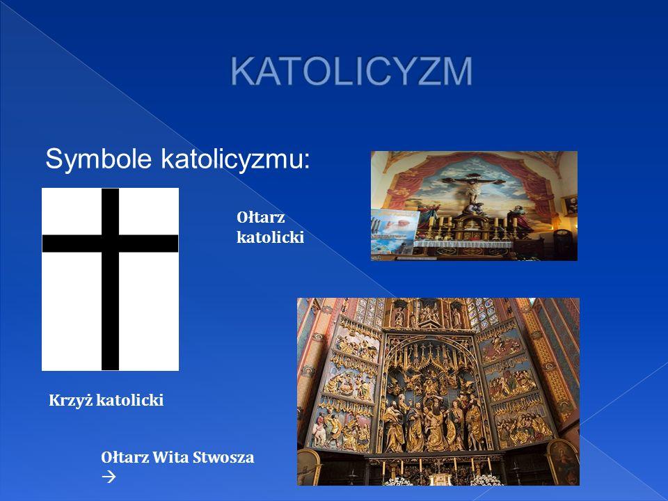 Symbole katolicyzmu: Krzyż katolicki Ołtarz katolicki Ołtarz Wita Stwosza