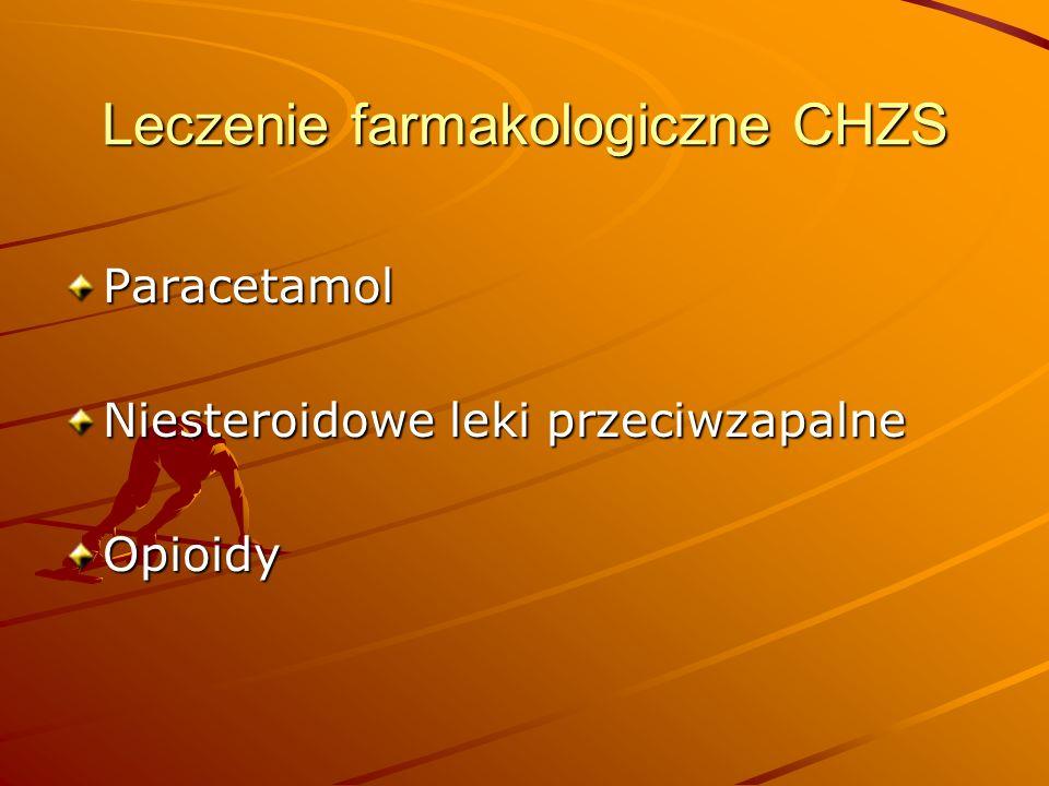 Leczenie farmakologiczne CHZS Paracetamol Niesteroidowe leki przeciwzapalne Opioidy