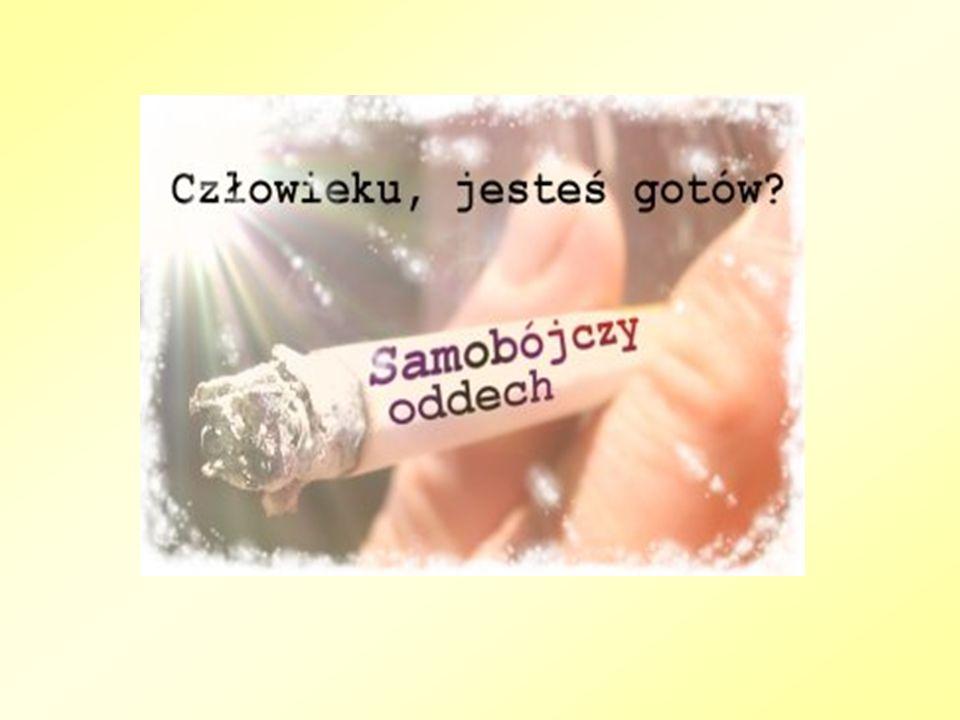 NIKOTYNA Jest jednym ze składników dymu tytoniowego.