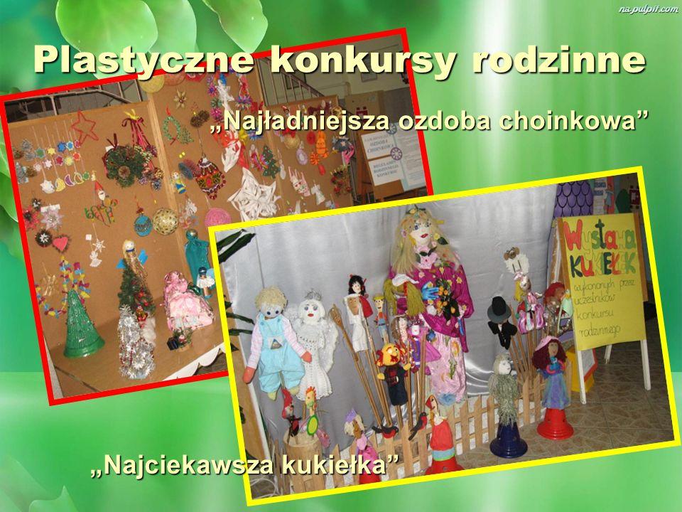 Plastyczne konkursy rodzinne Najładniejsza ozdoba choinkowa Najciekawsza kukiełka
