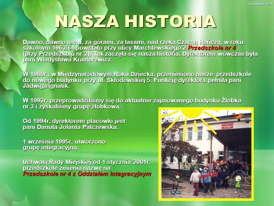 NASZA HISTORIA Dawno, dawno temu, za górami, za lasami, nad rzeką Czarną Hańczą, w roku szkolnym 1963/64 powstało przy ulicy Marchlewskiego 2 Przedszk
