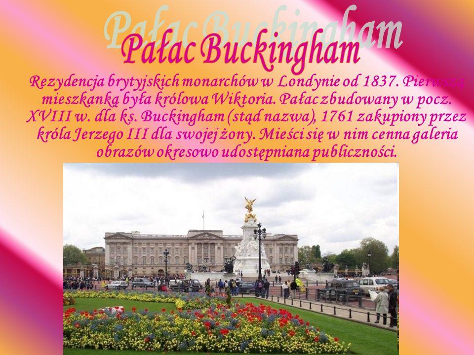 Rezydencja brytyjskich monarchów w Londynie od 1837. Pierwszą mieszkanką była królowa Wiktoria. Pałac zbudowany w pocz. XVIII w. dla ks. Buckingham (s