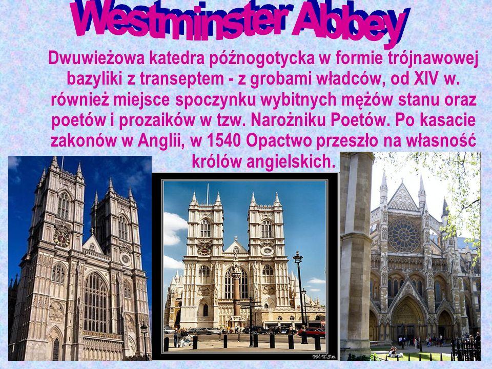 Dwuwieżowa katedra późnogotycka w formie trójnawowej bazyliki z transeptem - z grobami władców, od XIV w. również miejsce spoczynku wybitnych mężów st