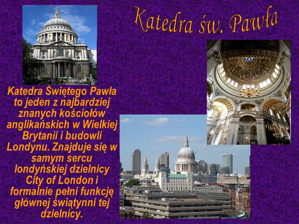 Katedra Świętego Pawła to jeden z najbardziej znanych kościołów anglikańskich w Wielkiej Brytanii i budowli Londynu. Znajduje się w samym sercu londyń
