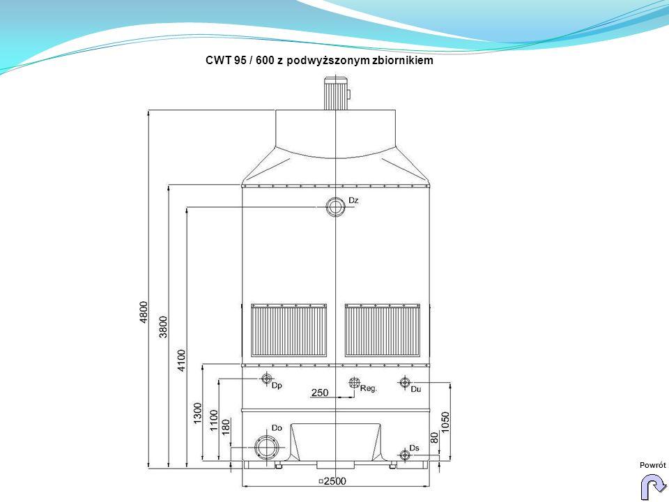 CWT 95 / 600 z podwyższonym zbiornikiem Powrót