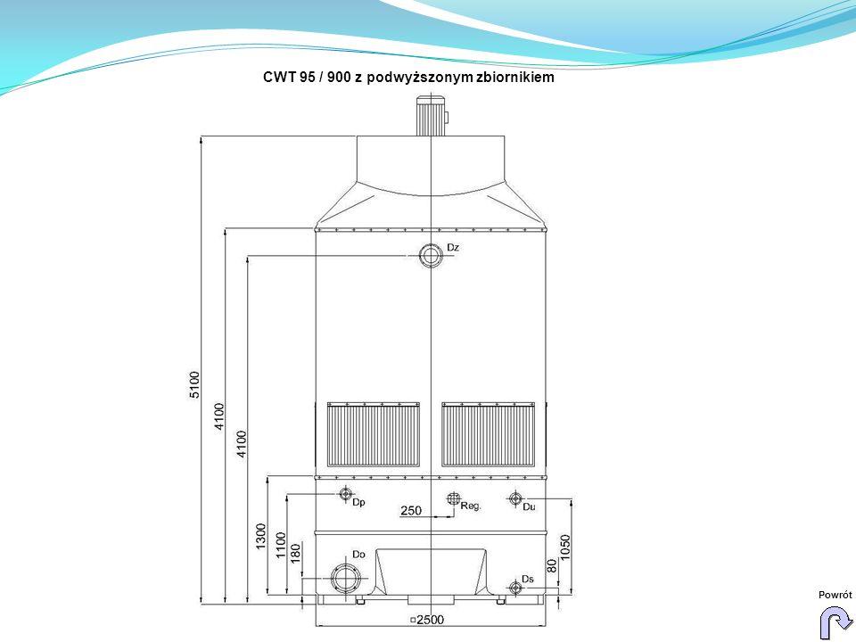 CWT 95 / 900 z podwyższonym zbiornikiem Powrót