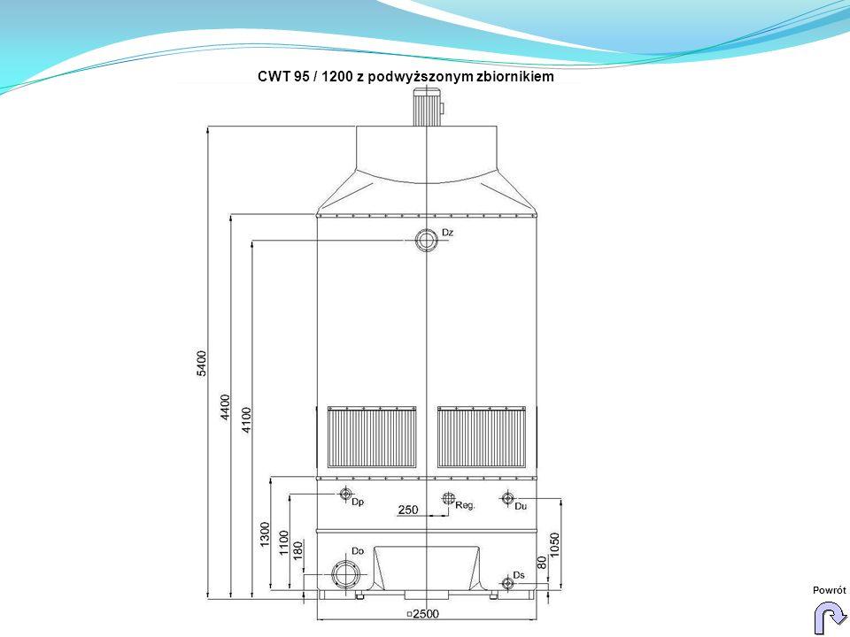 CWT 95 / 1200 z podwyższonym zbiornikiem Powrót