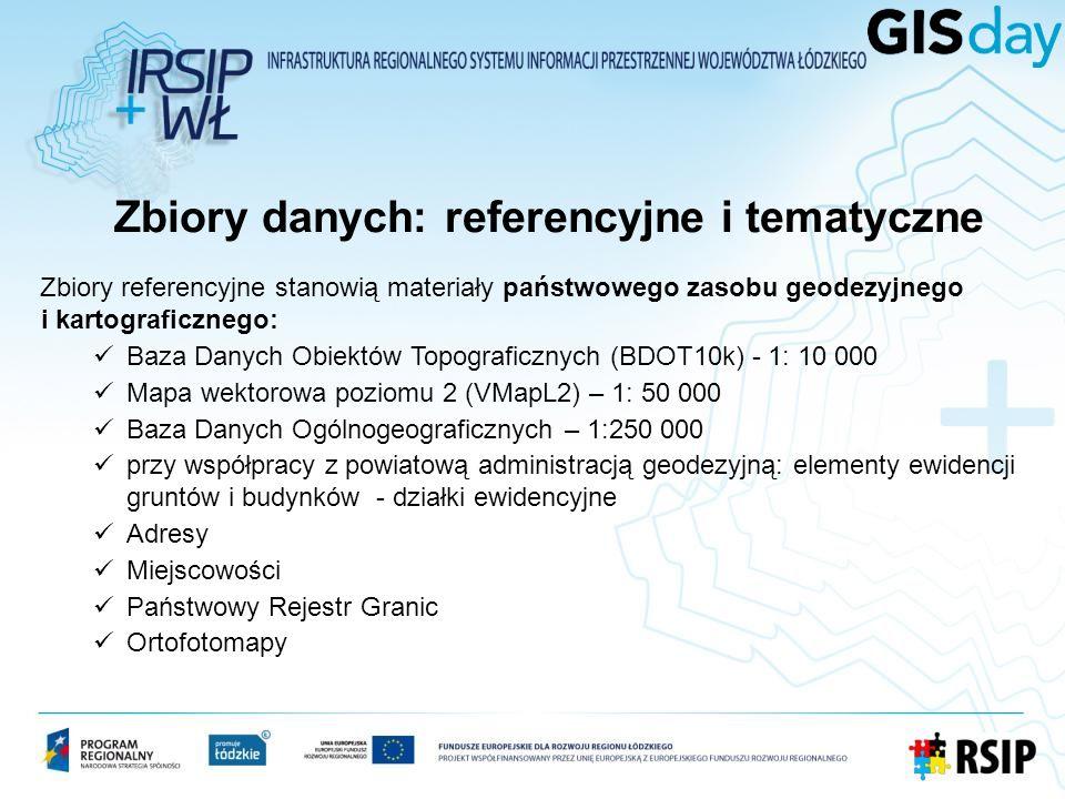 Zbiory danych: referencyjne i tematyczne cd.