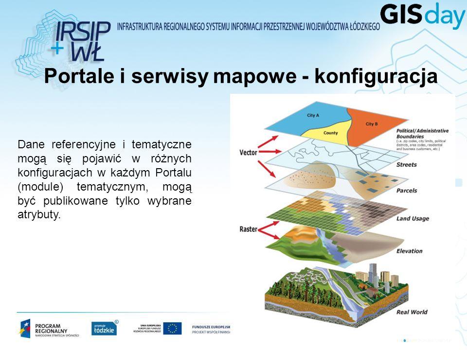 Zbiory danych referencyjne i tematyczne – Prezentacja w GWŁ Podstawę informacyjną (tło, dane referencyjne) stanowią bazy i mapy wojewódzkiego zasobu geodezyjnego i kartograficznego.